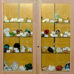 Earth Science mineral displays.