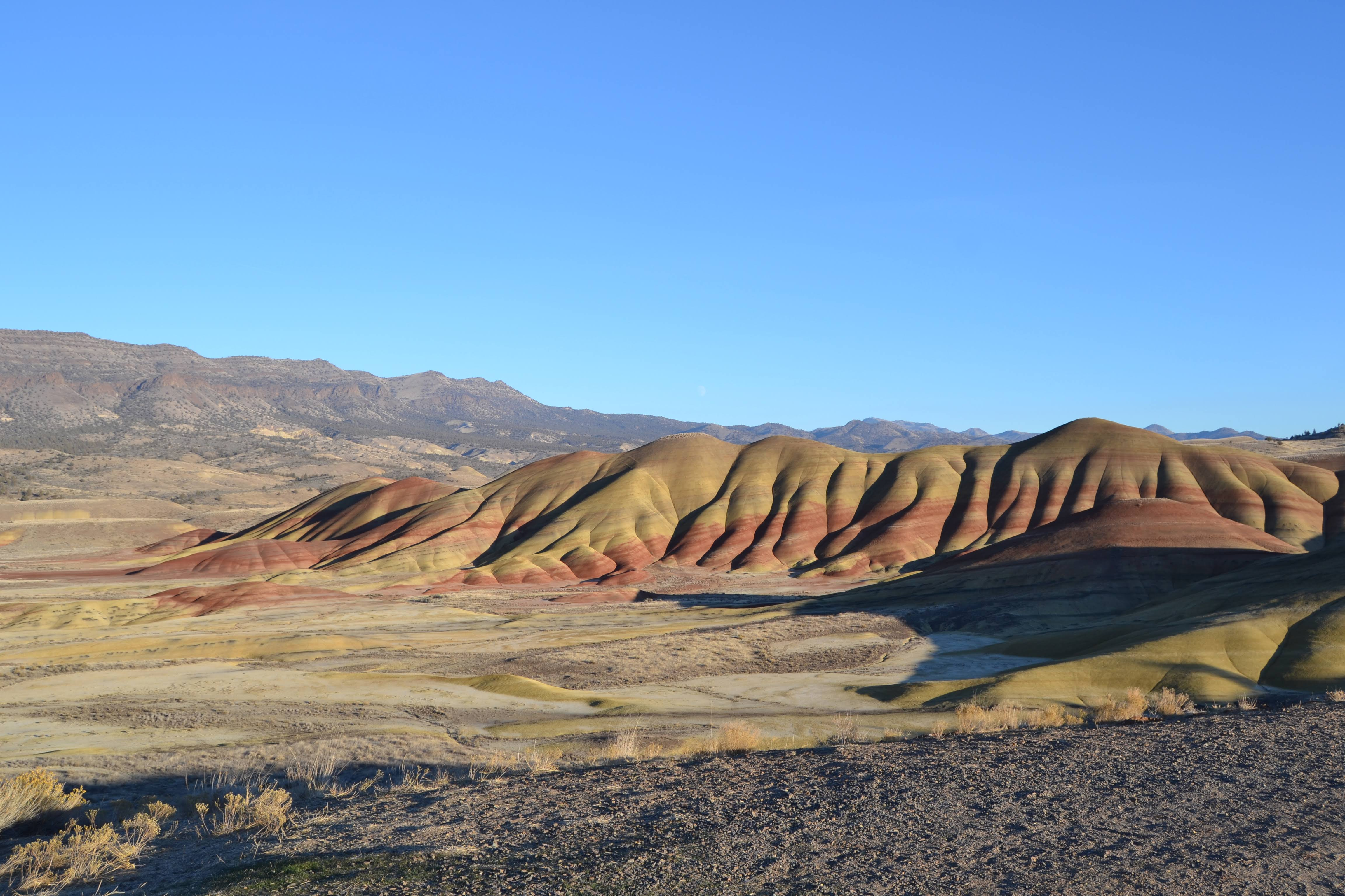 The Painted Hills at the John Day Fossil Beds National Monument.