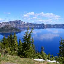 Crater Lake National Park in Oregon.