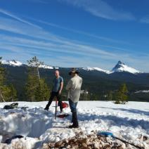 UO graduate students service a ShakeAlert site in the Cascades.